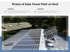 Picture Of Solar Power Plant On Roof Ppt PowerPoint Presentation Show Slides PDF