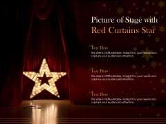 Picture Of Stage With Red Curtains Star Ppt PowerPoint Presentation Layouts Topics