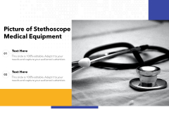 Picture Of Stethoscope Medical Equipment Ppt PowerPoint Presentation Pictures Information PDF