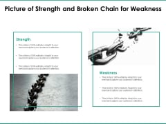 Picture Of Strength And Broken Chain For Weakness Ppt PowerPoint Presentation Gallery Maker PDF