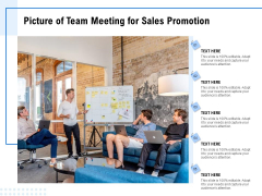 Picture Of Team Meeting For Sales Promotion Ppt PowerPoint Presentation Outline Portrait