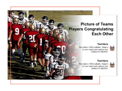 Picture Of Teams Players Congratulating Each Other Ppt PowerPoint Presentation Gallery Samples PDF
