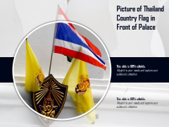 Picture Of Thailand Country Flag In Front Of Palace Ppt PowerPoint Presentation File Outfit PDF