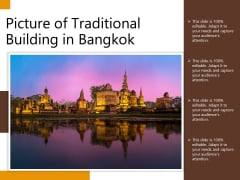 Picture Of Traditional Building In Bangkok Ppt PowerPoint Presentation Gallery Show PDF