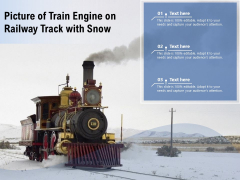 Picture Of Train Engine On Railway Track With Snow Ppt PowerPoint Presentation Professional Show PDF