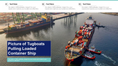 Picture Of Tugboats Pulling Loaded Container Ship Ppt PowerPoint Presentation Gallery Good PDF