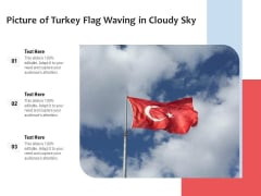 Picture Of Turkey Flag Waving In Cloudy Sky Ppt PowerPoint Presentation Professional Rules PDF