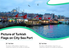 Picture Of Turkish Flags On City Sea Port Ppt PowerPoint Presentation Gallery Shapes PDF