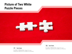 Picture Of Two White Puzzle Pieces Ppt PowerPoint Presentation Infographic Template Example File