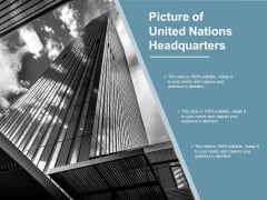 Picture Of United Nations Headquarters Ppt PowerPoint Presentation Ideas Design Ideas