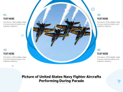 Picture Of United States Navy Fighter Aircrafts Performing During Parade Ppt PowerPoint Presentation Outline Graphics PDF