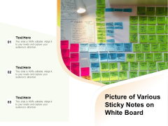 Picture Of Various Sticky Notes On White Board Ppt PowerPoint Presentation Portfolio Mockup PDF