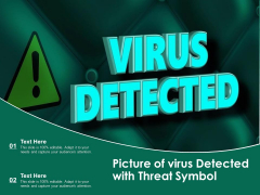 Picture Of Virus Detected With Threat Symbol Ppt PowerPoint Presentation Gallery Show PDF