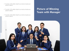 Picture Of Winning Team With Manager Ppt PowerPoint Presentation Gallery Outfit PDF