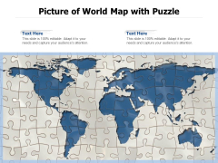 Picture Of World Map With Puzzle Ppt PowerPoint Presentation Styles Display PDF