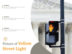 Picture Of Yellow Street Light Ppt PowerPoint Presentation Professional Infographics