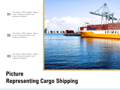 Picture Representing Cargo Shipping Ppt PowerPoint Presentation Slides Gallery PDF