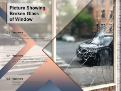 Picture Showing Broken Glass Of Window Ppt PowerPoint Presentation Professional Graphics Example PDF