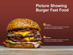 Picture Showing Burger Fast Food Ppt PowerPoint Presentation Model Rules