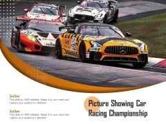 Picture Showing Car Racing Championship Ppt PowerPoint Presentation Pictures Graphic Tips PDF