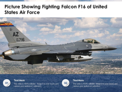 Picture Showing Fighting Falcon F16 Of United States Air Force Ppt PowerPoint Presentation Gallery Background PDF