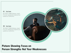 Picture Showing Focus On Person Strength Not Your Weaknesses Ppt PowerPoint Presentation Ideas Backgrounds PDF