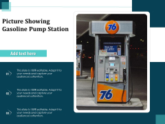 Picture Showing Gasoline Pump Station Ppt PowerPoint Presentation Styles Images PDF