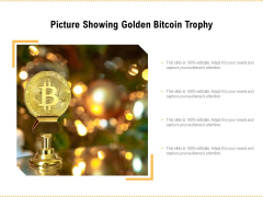 Picture Showing Golden Bitcoin Trophy Ppt PowerPoint Presentation Gallery Slides PDF