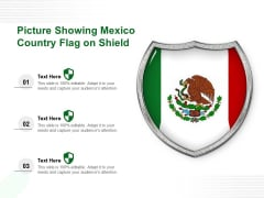 Picture Showing Mexico Country Flag On Shield Ppt PowerPoint Presentation Gallery Introduction PDF