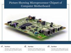 Picture Showing Microprocessor Chipset Of Computer Motherboard Ppt PowerPoint Presentation File Templates PDF