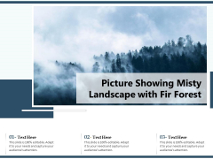 Picture Showing Misty Landscape With Fir Forest Ppt PowerPoint Presentation Infographic Template Slide PDF