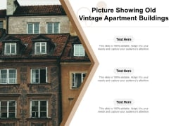 Picture Showing Old Vintage Apartment Buildings Ppt PowerPoint Presentation Ideas Model PDF