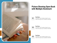 Picture Showing Open Book With Multiple Bookmark Ppt PowerPoint Presentation Gallery Tips PDF