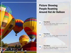 Picture Showing People Roaming Around Hot Air Balloon Ppt PowerPoint Presentation Gallery Designs PDF