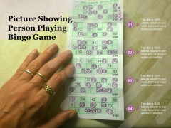 Picture Showing Person Playing Bingo Game Ppt PowerPoint Presentation Gallery Sample PDF