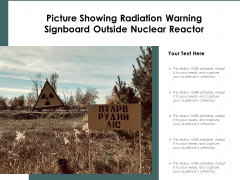 Picture Showing Radiation Warning Signboard Outside Nuclear Reactor Ppt PowerPoint Presentation Slides Gallery PDF