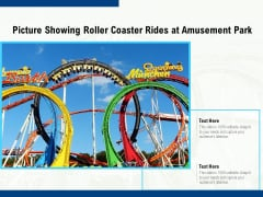 Picture Showing Roller Coaster Rides At Amusement Park Ppt PowerPoint Presentation File Diagrams PDF