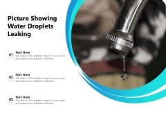 Picture Showing Water Droplets Leaking Ppt PowerPoint Presentation Model Display PDF