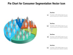 Pie Chart For Consumer Segmentation Vector Icon Ppt PowerPoint Presentation File Display PDF