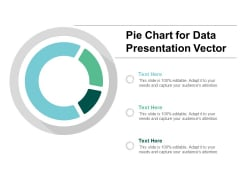 Pie Chart For Data Presentation Vector Ppt PowerPoint Presentation Summary Files