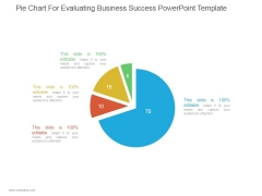 Pie Chart For Evaluating Business Success Ppt PowerPoint Presentation Inspiration
