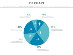 Pie Chart For Financial Planning And Evaluation Powerpoint Slides