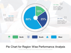 Pie Chart For Region Wise Performance Analysis Ppt PowerPoint Presentation Gallery Example PDF