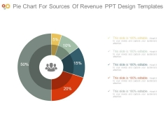 Pie Chart For Sources Of Revenue Ppt Design Templates