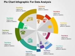 Pie Chart Infographic For Data Analysis PowerPoint Templates
