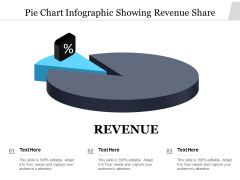 Pie Chart Infographic Showing Revenue Share Ppt Styles Graphics Pictures PDF