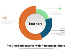 Pie Chart Infographic With Percentage Share Ppt Infographic Template Inspiration PDF