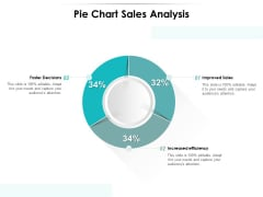 Pie Chart Sales Analysis Ppt PowerPoint Presentation Samples PDF