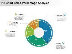 Pie Chart Sales Percentage Analysis Ppt PowerPoint Presentation Gallery Slides PDF