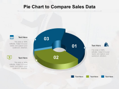 Pie Chart To Compare Sales Data Ppt PowerPoint Presentation Gallery Design Templates PDF
